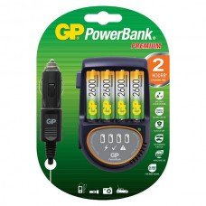 GP Recyko+ H500 2hr fast charger, Incl. 4xAA 2600, incl. 12V car adaptor
